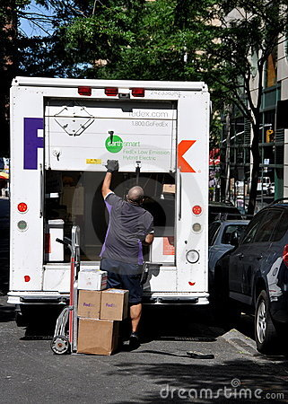 NYC: FEDEX Delivery Man and Truck