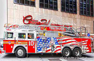 NYC firetruck FDNY Editorial Stock Photo