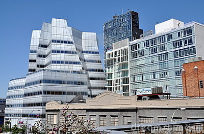 NYC:  Frank Gehry s IAC Building Editorial Stock Photo