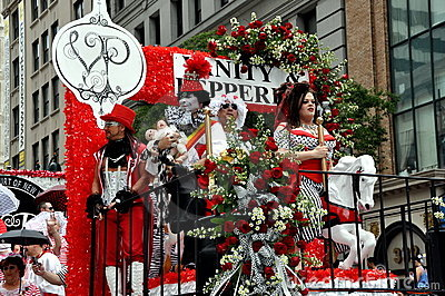 NYC: Gay Pride Parade Colourful Float Editorial Stock Photo