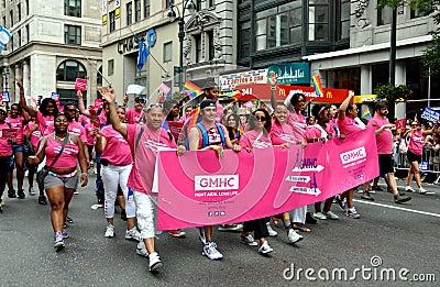 NYC: GMHC Group at Gay Pride Parade Editorial Stock Image