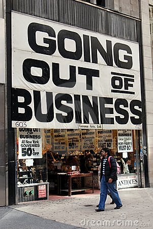 NYC: Going Out of Business Sign Editorial Image