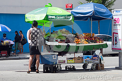 NYC Green Cart Editorial Stock Photo