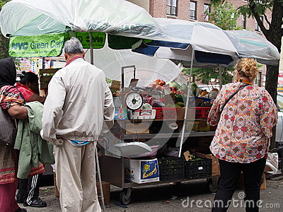 NYC Green Cart Editorial Image