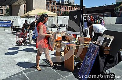 NYC: Harlem Flea Market Editorial Stock Photo