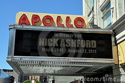 NYC:  Harlem s Famed Apollo Theatre Editorial Photo