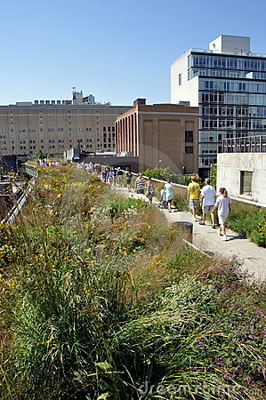 NYC:  The High Line Park Editorial Photo