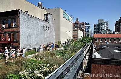 NYC:  The High Line Park Editorial Image