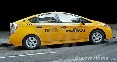 NYC-Hybrid Taxi Editorial Photography