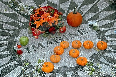 NYC: Imagine Mosaic in Central Park Editorial Stock Image