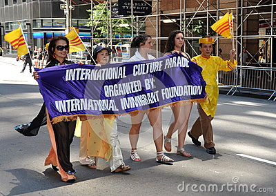 NYC: International Immigrants Foundation Parade Editorial Stock Photo