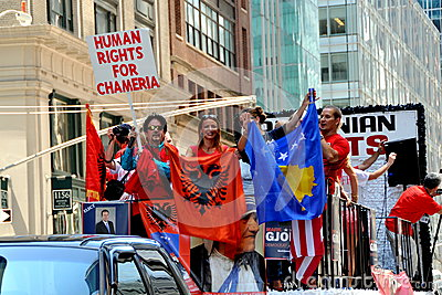 NYC: International Immigrants Foundation Parade Editorial Stock Image