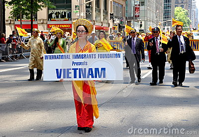 NYC: International Immigrants Foundation Parade Editorial Photography