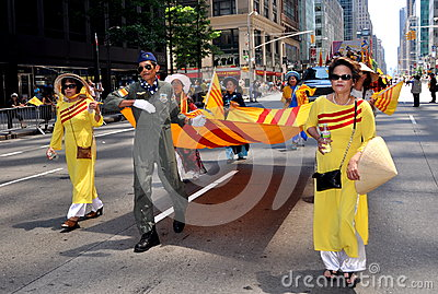 NYC: International Immigrants Foundation Parade Editorial Image