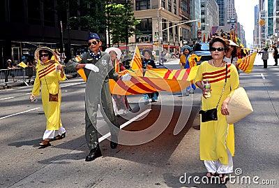 NYC: International Immigrants Foundation Parade Editorial Image