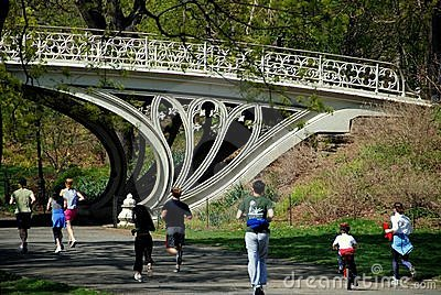 NYC: Joggers in Central Park Editorial Stock Photo