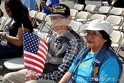 NYC: Korean War Vet at Memorial Day Event Editorial Stock Image