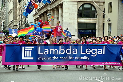 NYC: Lambda Legal at Gay Pride Parade Editorial Photography