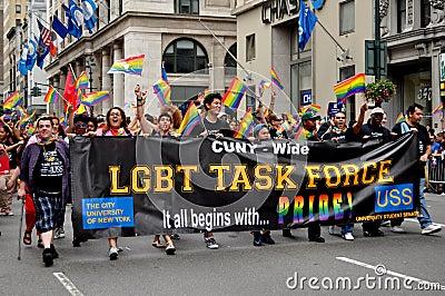 NYC: LGBT Task Force at Gay Pride Parade Editorial Photo