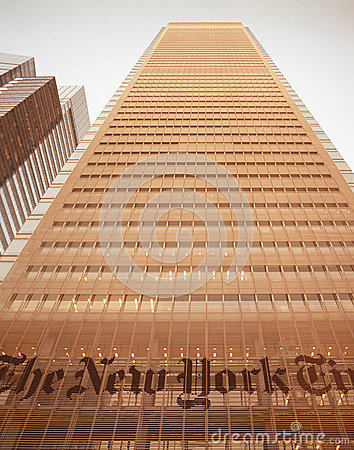 NYC - look up. The New York Times Building. Editorial Stock Image