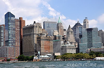 NYC: Lower Manhattan Skyline Editorial Stock Image