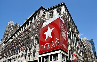 NYC:  Macy s Department Store Editorial Stock Photo