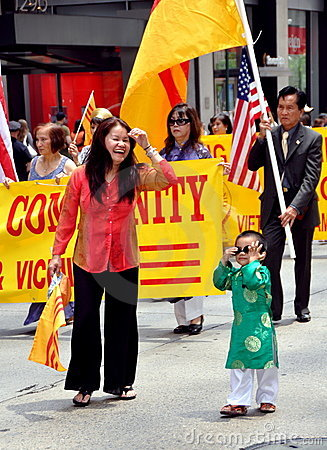 NYC: Marchers in Immigrants Parade Editorial Stock Photo