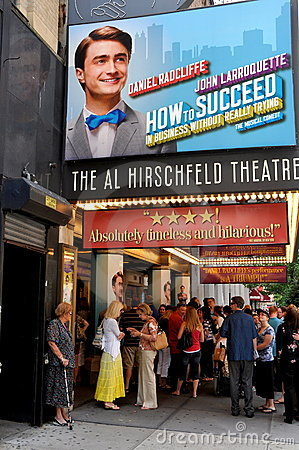 NYC: Martin Beck Broadway Theatre Editorial Image