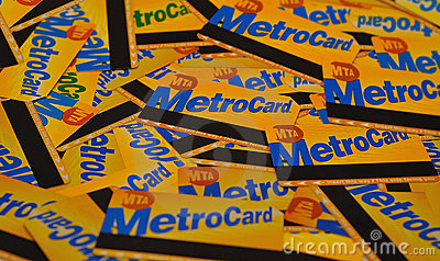 NYC metrocards Editorial Photography