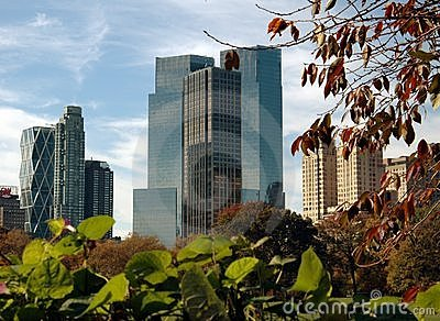NYC: Midtown Manhattan Towers Editorial Stock Photo