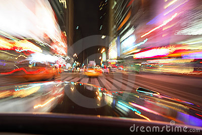 NYC motion blur