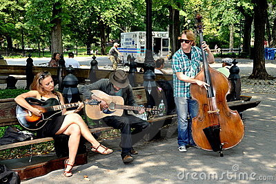 NYC: Musicians in Central Park Editorial Image
