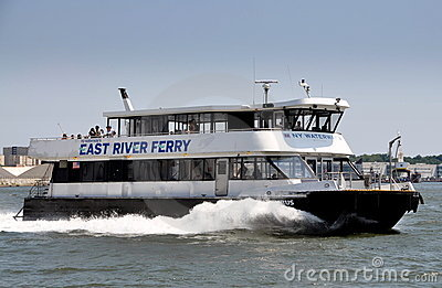 NYC: NY Waterway Ferry Boat Editorial Photo