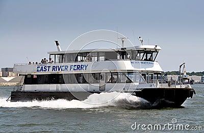NYC: NY Waterway Ferry Boat Editorial Photo