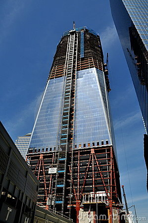 NYC: One World Trade Center Tower Editorial Stock Photo