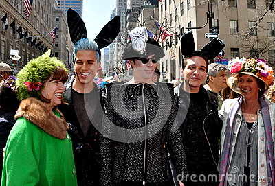 NYC: People at 2014 Easter Parade
