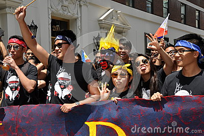 NYC:  Philippine Independence Day Parade Editorial Stock Image