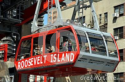 NYC: Roosevelt Island Tram Editorial Image
