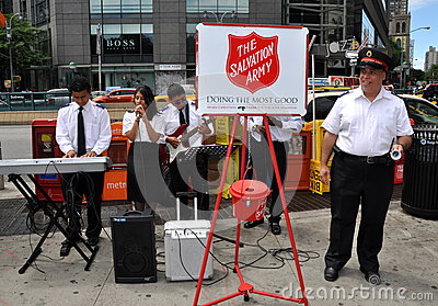 NYC:  Salvation Army Band Editorial Photography