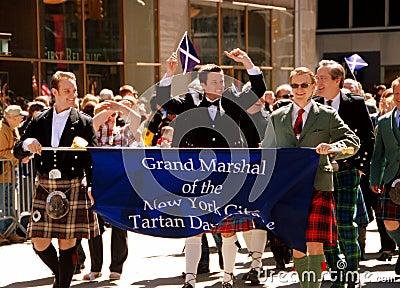 NYC: Scottish Tartan Day Parade Editorial Stock Photo