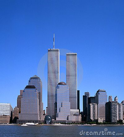 NYC Skyline With The Twin Towers Royalty Free Stock Images - Image ...