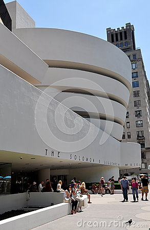 NYC: Solomon R. Guggenheim Museum Editorial Photo