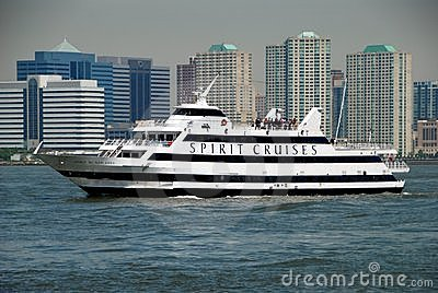 NYC: Spirit Cruise Ship on the Hudson River Editorial Image