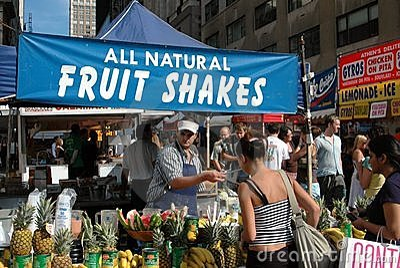 NYC: Street Festival Food Vendor Editorial Image
