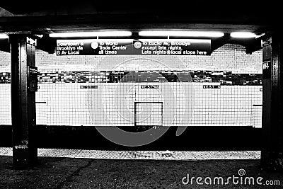 NYC Subway Station, Manhattan, NY Editorial Photo