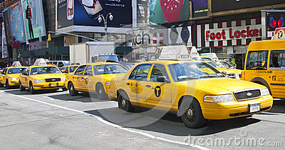 NYC Taxi Editorial Stock Image