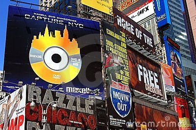 NYC: Times Square Billboards Editorial Image