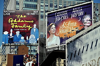 NYC: Times Square Billboards Editorial Stock Photo