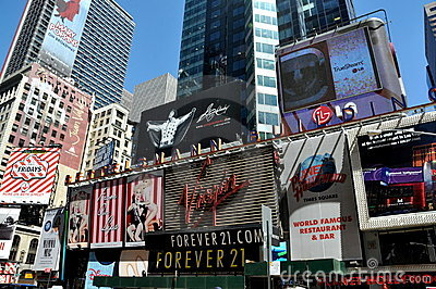 NYC: Times Square Billboards Editorial Stock Image