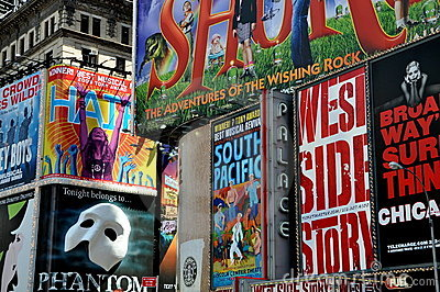 NYC: Times Square Broadway Billboards Editorial Photography